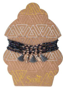 Scout Midnight & Rose Gold Metallic Tassel Wrap