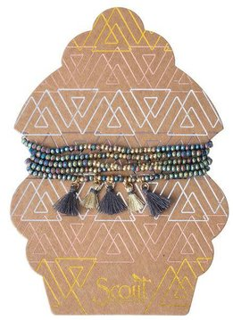 Scout Oil Slick & Gold Metallic Tassel Wrap