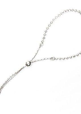 Qualita In Argento Italian Sterling Silver Disco Bead Lariat Bracelet