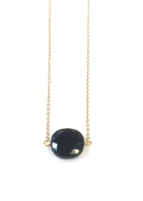 Round Onyx Necklace
