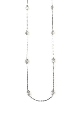 "Qualita In Argento Italian Sterling Silver Moon Cut Bead 24"" Necklace"