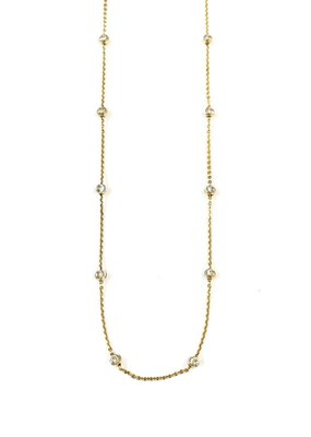"Qualita In Argento Italian Sterling Gold Plated Moon Cut Bead 20""  Necklace"