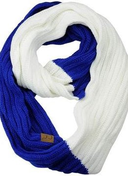 Cheveux Corp. Blue + White Game Day Infinity CC Scarf