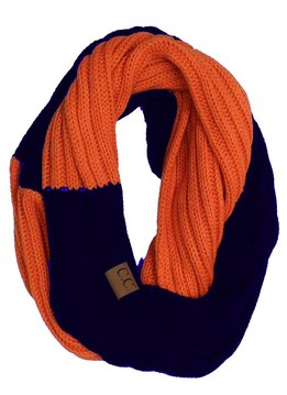 Cheveux Corp. Blue and Orange Game Day Infinity CC Scarf
