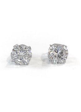 Sterling Silver Round 10mm CZ Stud