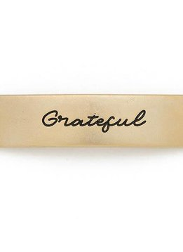 Lenny & Eva Gold Engraved Grateful Sentiment