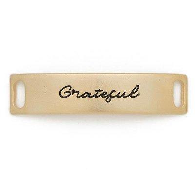 Lenny & Eva Gold Engraved Grateful Sentiment