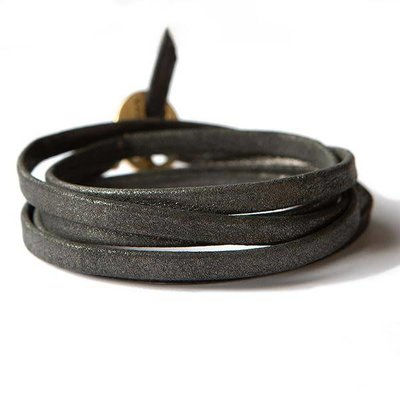 Lenny & Eva Leather Wrap Silver