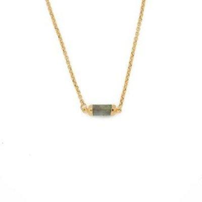 Lenny & Eva Labradorite Gold Gemstone Choker