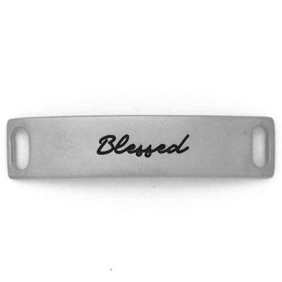 Lenny & Eva Silver Engraved Blessed Sentiment