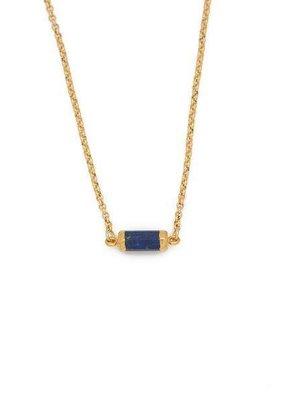 Lenny & Eva Lapis Lazuli Gold Gemstone Choker