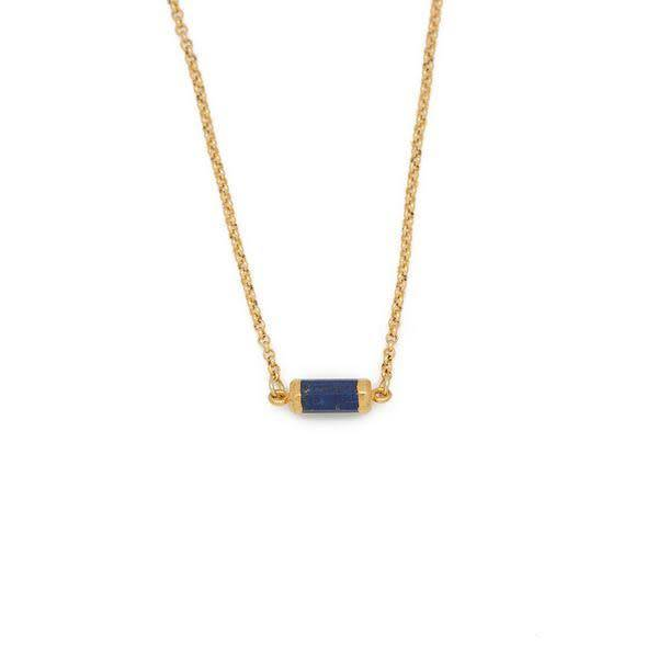 Lapis Lazuli Gold Gemstone Choker