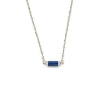 Lapis Lazuli Silver Gemstone Choker