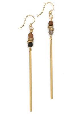 Lenny & Eva Fancy Jasper Jerry Gemstone Earrings