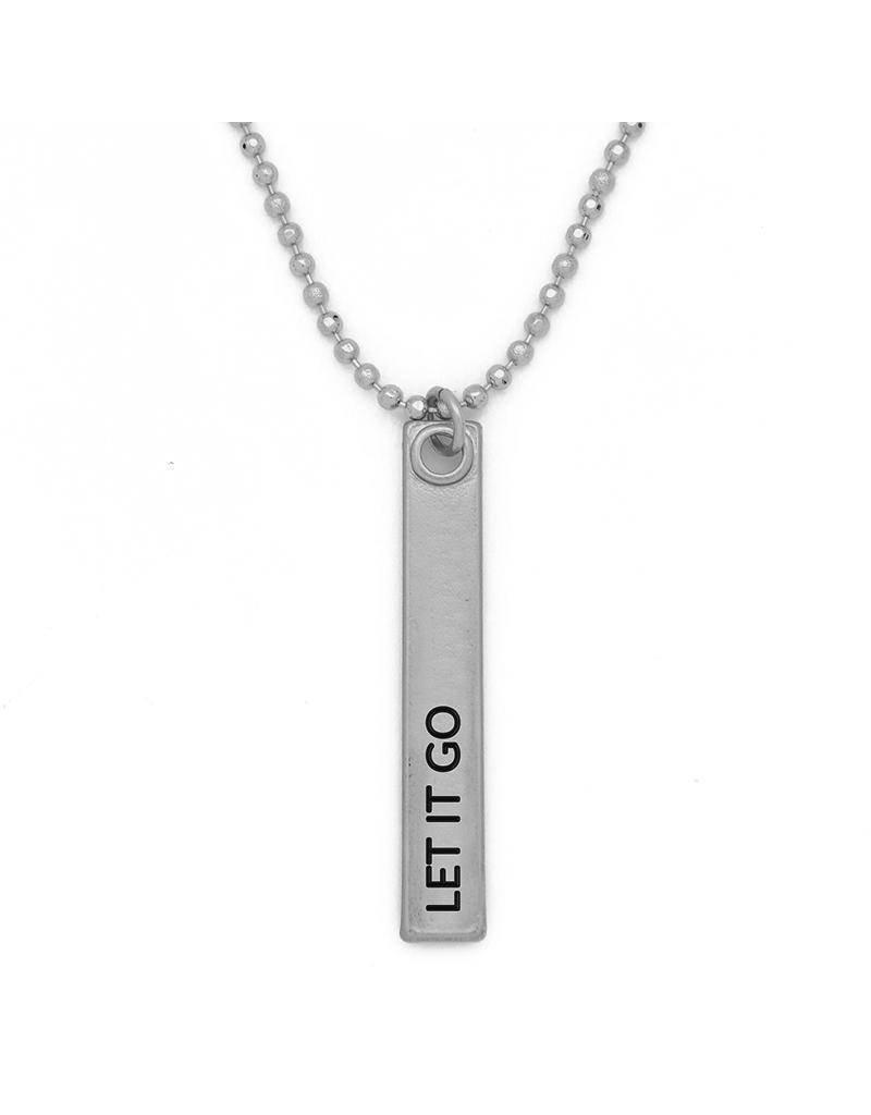 Lenny & Eva Let it Go Silver Bar Pendant Necklace