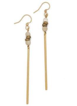 Fossil Jasper Jerry Gemstone Earrings