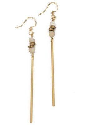 Lenny & Eva Fossil Jasper Jerry Gemstone Earrings