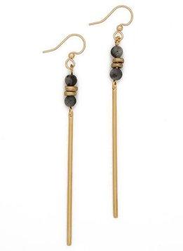 Labradorite Agate Jerry Gemstone Earrings