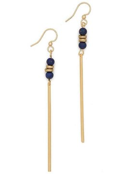Lapis Lazuli Agate Jerry Gemstone Earrings