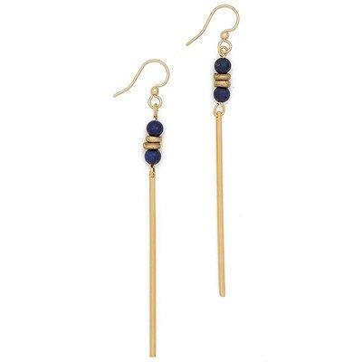 Lenny & Eva Lapis Lazuli Agate Jerry Gemstone Earrings