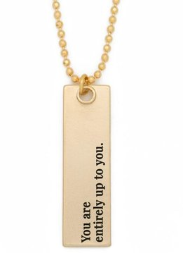 """36"""" Entirely Up to You Gold Bar Pendant Necklace"""