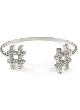 Silver Hashtag Bracelet