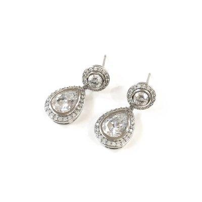 CZ Teardrop Earrings