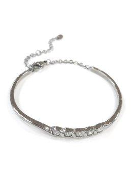 Stainless Steel 5 Crystal Bracelet
