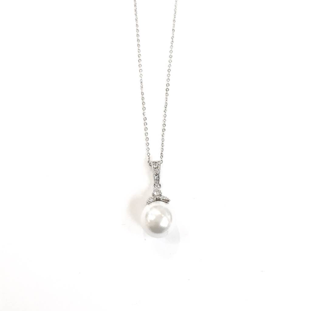 Pearl CZ Necklace