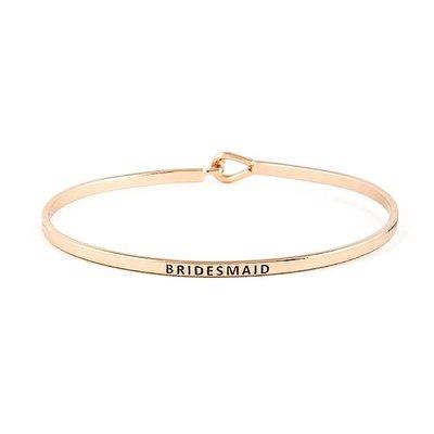 Bridesmaid Rose Gold Bangle