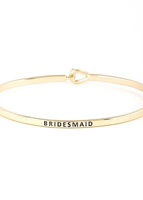 Bridesmaid Gold Bangle