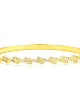 Gold Cubic Zirconia Bangle Bracelet