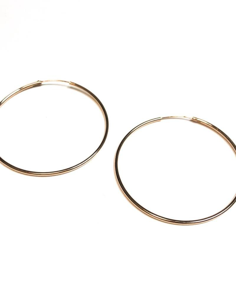 16f086794 Qualita In Argento Italian Sterling Silver Rose Gold Plated Large Infinity  Hoops ...