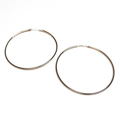 Qualita In Argento Italian Sterling Rose Gold Big Infinity Hoops