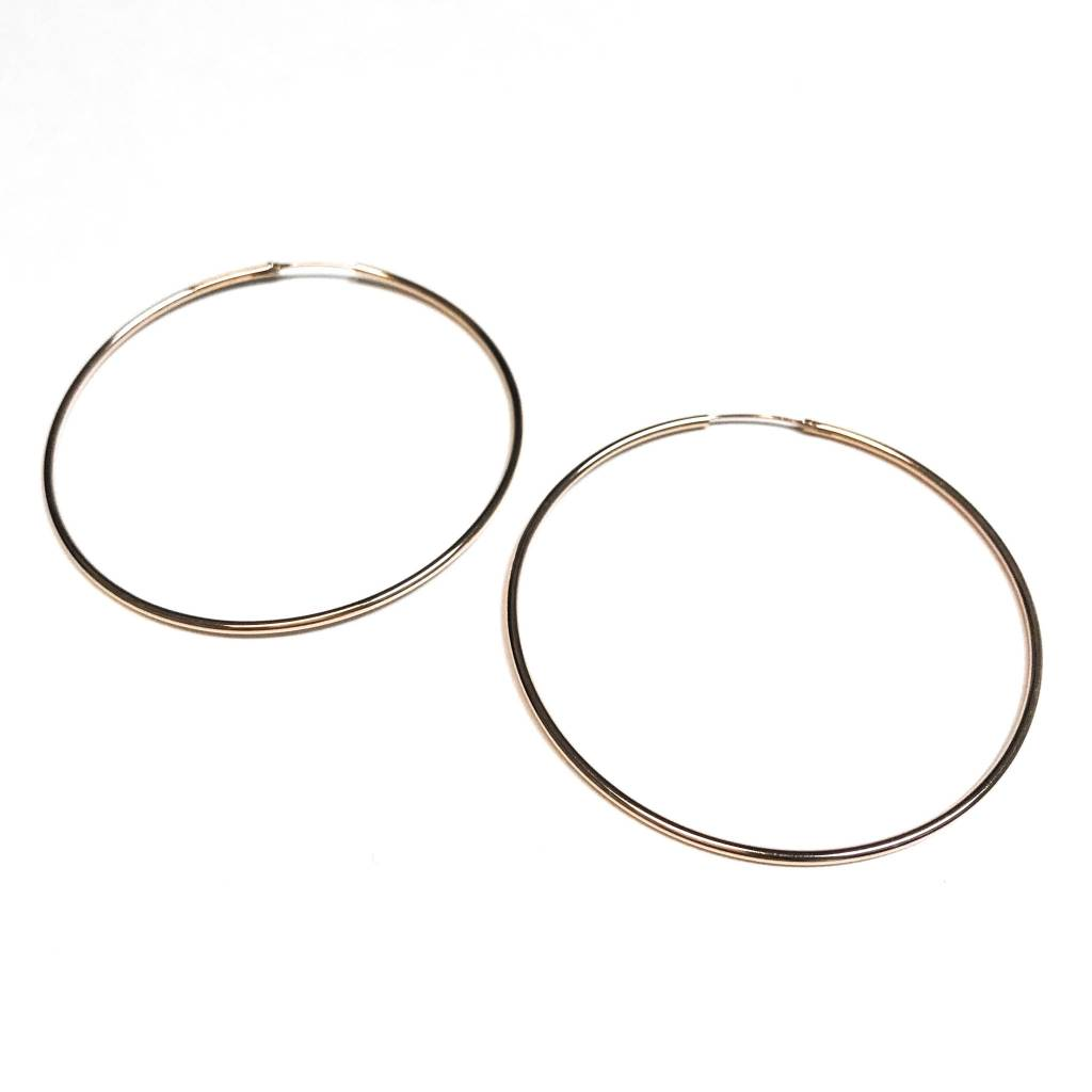 Italian Sterling Rose Gold Big Infinity Hoops