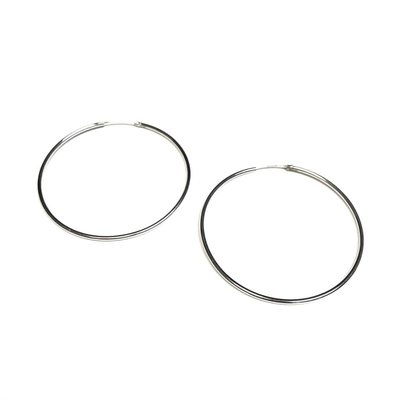 Qualita In Argento Italian Sterling Silver Infinity Hoops
