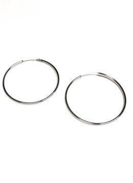 Italian Sterling Silver Infinity Hoops