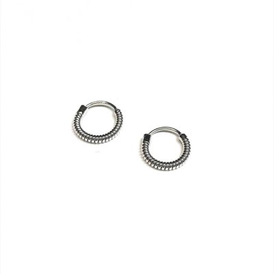 Qualita In Argento Italian Sterling Silver Looped Tiny Hoops