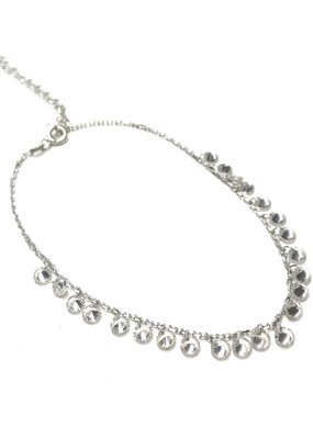 Qualita In Argento Italian Sterling CZ Anklet