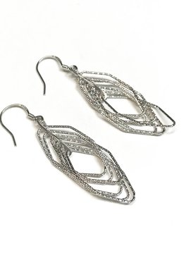 Italian Sterling Silver Motion Set Earrings