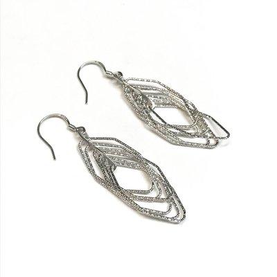 Qualita In Argento Italian Sterling Silver Motion Set Earrings