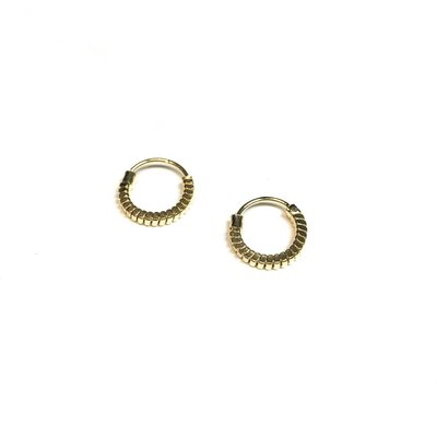 Qualita In Argento Italian Sterling Gold Tiny Hoops