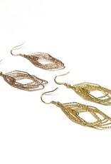 Qualita In Argento Italian Sterling Gold Motion Set Earrings