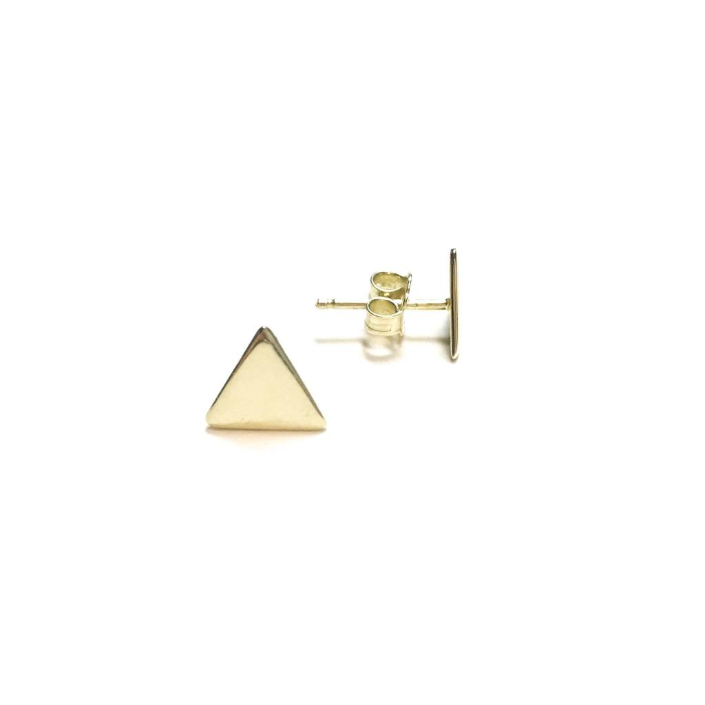 Italian Sterling Gold Triangle Studs