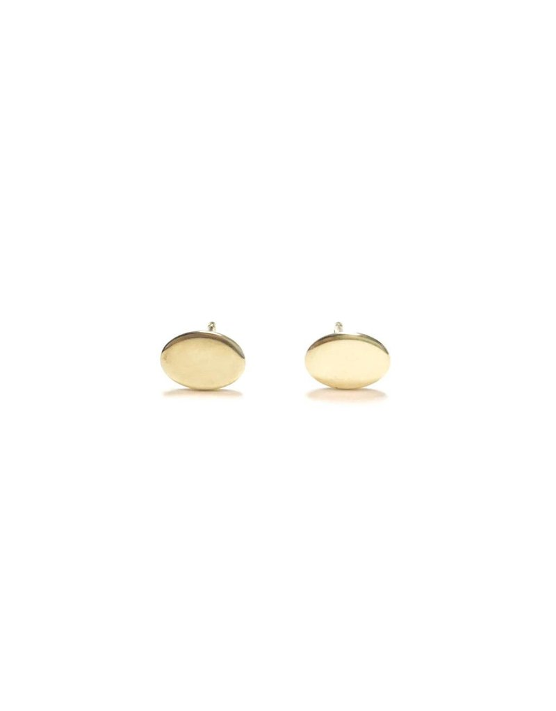 Sterling Gold Oval Studs