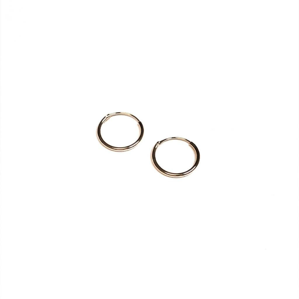 Qualita In Argento Italian Sterling Rose Gold Tiny Infinity Hoops