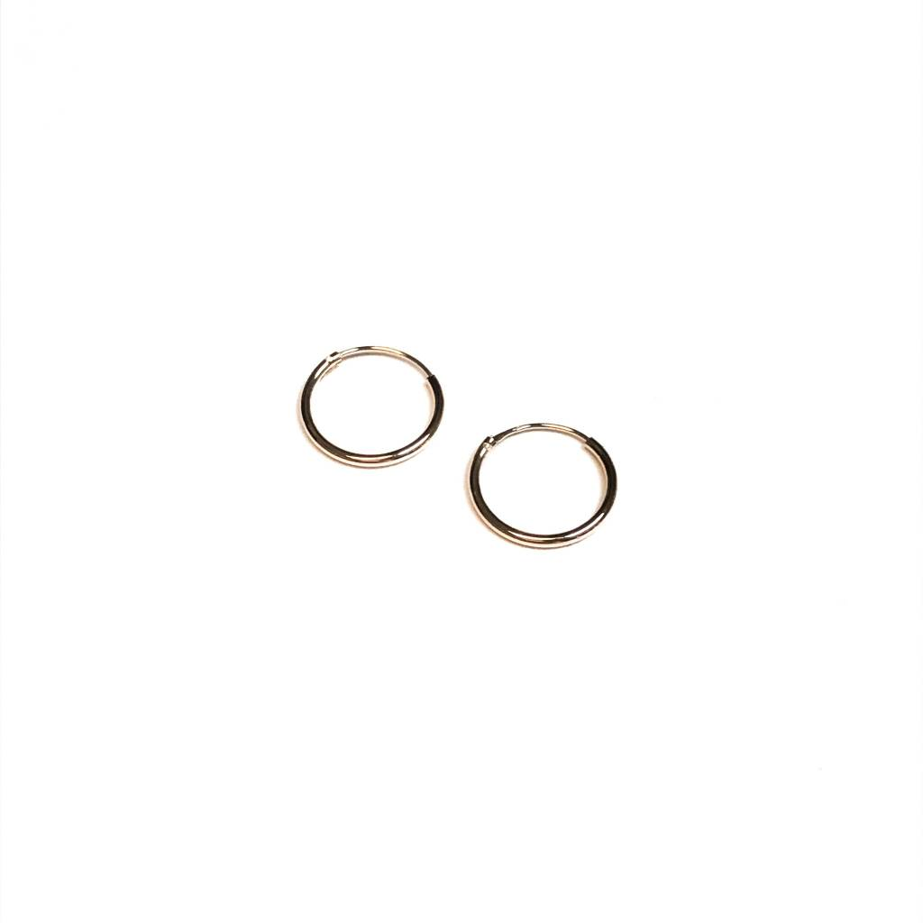 Italian Sterling Rose Gold Tiny Infinity Hoops