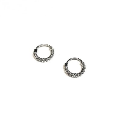 Qualita In Argento Italian Sterling Silver Looped Small Hoops