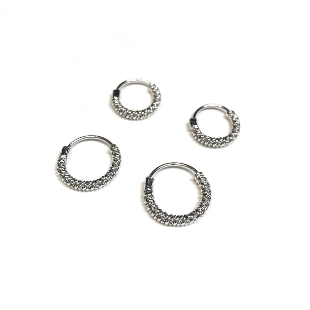 Italian Sterling Silver Looped Small Hoops