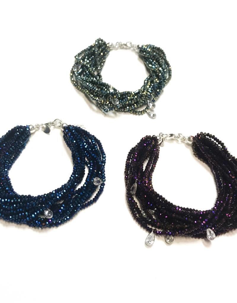 Sterling Perido AB Swarovski Multiple Strand Bracelet